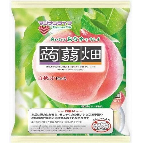 マンナン 蒟蒻畑 白桃 小腹もハッピーポーションタイプ 袋25g×12