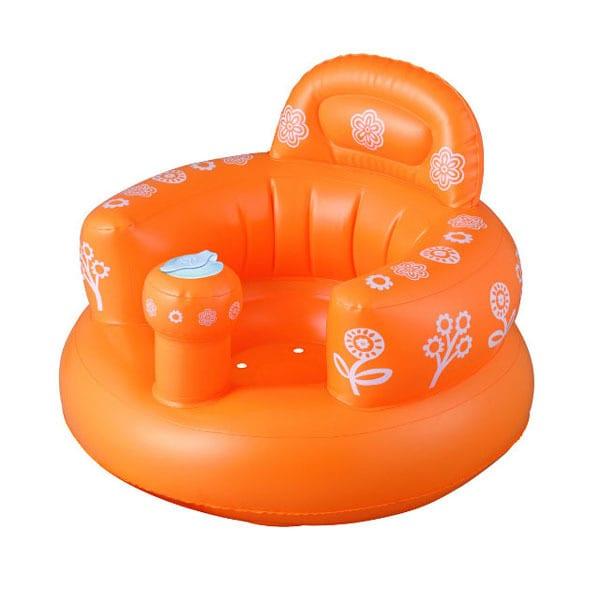バスソファのポンプアップ・オレンジ