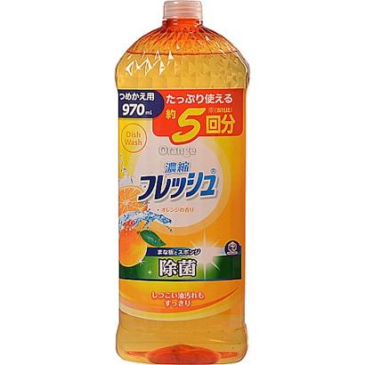 第一石鹸 キッチンクラブ 濃縮フレッシュ オレンジの香り つめかえ用 大容量 970mL