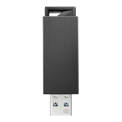 オー データ機器 USB3.0/2.0対応 ノック式USBメモリー 16GB ブラック U3-PSH16G K 1個
