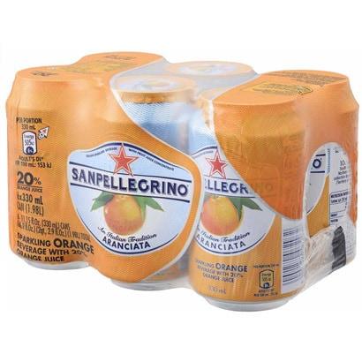 サンペレグリノ スパークリングフルーツベバレッジ アランチャータ 330ml×6本
