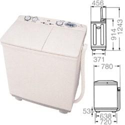 SW-550H2-HS [二槽式洗濯機(5.5kg) ソフトグレー]