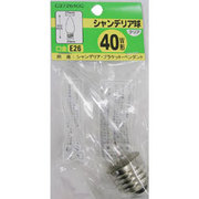 C372640C [白熱電球 シャンデリアランプ E26口金 40W 37mm径 クリア]