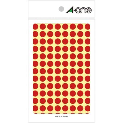 07001 [カラーラベル 赤 丸型 9mmφ 14シート]