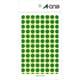 07003 [カラーラベル 緑 丸型 9mmφ14シート(1,456片)]