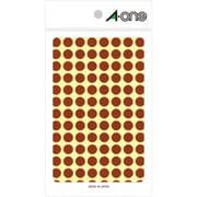 07007 [カラーラベル 茶 丸型 9mmφ14シート(1,456片)]