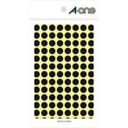 07009 [カラーラベル 黒 丸型 9mmφ14シート(1,456片)]
