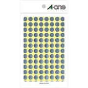 07012 [カラーラベル 銀 丸型 9mmφ8シート(832片)]