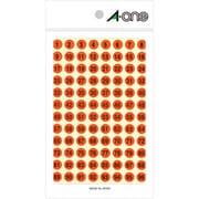 08083 [特殊ラベル 数字 蛍光赤 丸型 9mmφ 4シート(1~100 各4片)]