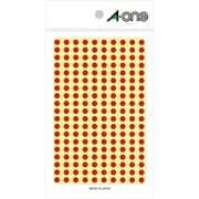 07061 [カラーラベル 赤 丸型 5mmφ9シート(1,800片)]