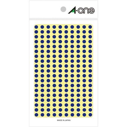 07062 [カラーラベル 青 丸型 5mmφ9シート(1,800片)]