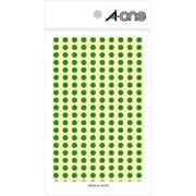 07063 [カラーラベル 緑 丸型 5mmφ9シート(1,800片)]