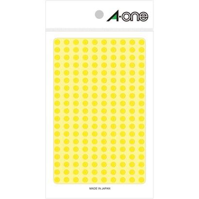 07064 [カラーラベル 黄 丸型 5mmφ9シート(1,800片)]