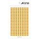 07065 [カラーラベル 橙 丸型 5mmφ9シート(1,800片)]
