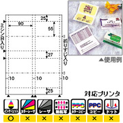 CJ605S [名刺・カード 縦2ツ折4面 光沢&マット A4 10枚]