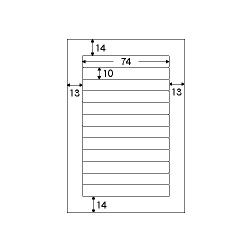 OP1903-N [ファイルタック ホワイト 再剥離 ハガキサイズ 12面 10シート]