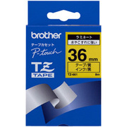 TZ-661 [ラミネートテープ 黒文字、黄テープ、36mm]