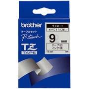 TZ-221 [ラミネートテープ 黒文字、白テープ、9mm]