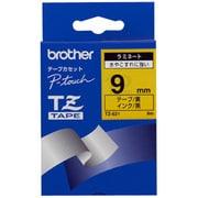TZ-621 [ラミネートテープ 黒文字、黄テープ、9mm]