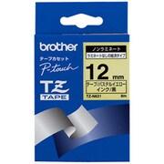 TZ-N631 [黒文字、黄のノンラミネートテープ、12mm]