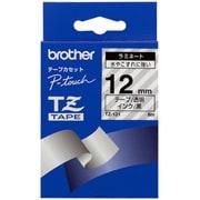 TZ-131 [ラミネートテープ 黒文字、透明テープ、12mm]