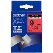 TZ-421 [ラミネートテープ 黒文字、赤テープ、9mm]