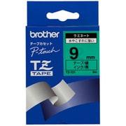 TZ-721 [ラミネートテープ 黒文字、緑テープ、9mm]