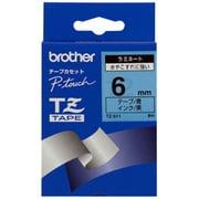 TZ-511 [ラミネートテープ 黒文字、青テープ、6mm]
