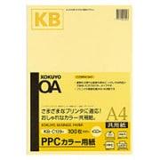 KB-C139NY [PPCカラー用紙共用紙64g A4 100枚 黄]