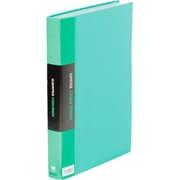 132-3Cミト クリアーファイル カラーベース トリプル 緑