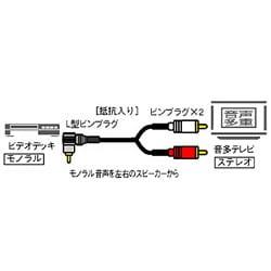 RP-CA016MLA モノラル音声-ステレオ音声ケーブル 2m
