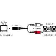 CN-132A オーディオコード [ミニプラグ-ピンプラグ×2 3m]
