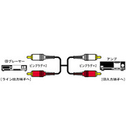 CN-181G オーディオコード [ピンプラグ×2-ピンプラグ×2 2m]