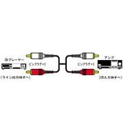 CN-182G オーディオコード [ピンプラグ×2-ピンプラグ×2 3m]
