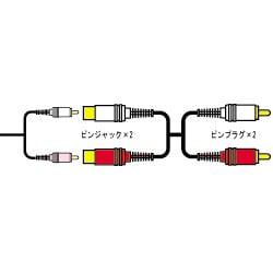 CN-163G 延長オーディオコード [ピンジャック×2-ピンプラグ×2 1.5m]