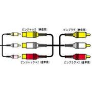 VX-80G 延長ビデオコード [ピンジャック×3-ピンプラグ×3 2m]