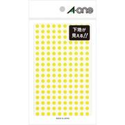 07254 [カラーラベル 透明黄 丸型 5mmφ 2シート]
