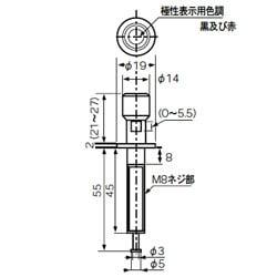 T100 ターミナル [T100 [大型金メッキターミナル(+・-独立)]]