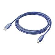 AU2-10BL [USB2.0対応ケーブル スケルトンブルー 1m]