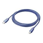 AU2-30BL [USB2.0対応ケーブル スケルトンブルー 3m]