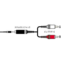CN-140A 変換オーディオコード [ステレオミニジャック-ピンプラグ×2 0.3m]