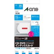 51157 [CD/DVDインデックスカード[インクジェット] A4判変形 2面 ホワイト 10シート]