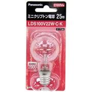 LDS100V22WCK [白熱電球 ミニクリプトン電球 E17口金 100V 25W形(22W) 35mm径 クリア]