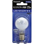 LDS110V22WWK [白熱電球 ミニクリプトン電球 E17口金 110V 25W形(22W) 35mm径 ホワイト]