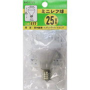 R451725 [白熱電球 ミニレフ球 E17口金 25W 45mm径]