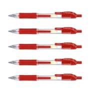 JJ3-R-5P [サラサ0.5 ジェルボールペン 赤インク0.5mm 5本セット]