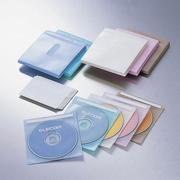 CCD-016L5C [CD/DVD 厚手不織布ケース 2枚収納 5色 100枚入り]