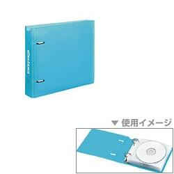 EDCCF201LB [CD/DVDファイル<disctown> 20枚収納 ライトブルー]