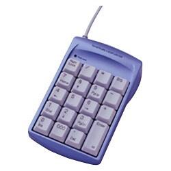 TNK-SUU216MBL [3ポートUSBハブ内蔵 USBテンキー メタリックブルー]