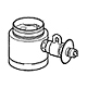CB-SKB6 [食器洗い乾燥機用分岐水栓 シングル分岐 KVK社用]